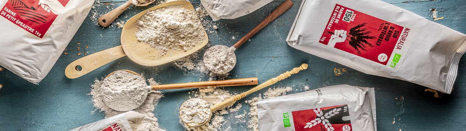 Farines, Aides à la pâtisserie