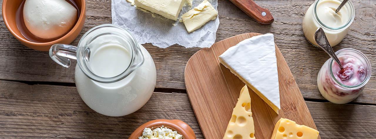 Crèmerie, lait et œufs