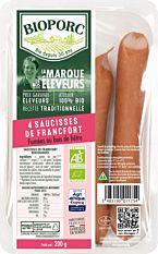 Saucisses de Francfort 4x50g Bio
