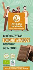 Chocolat fondant amandes 50% cacao 100G Bio