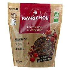 Muesli croustillant Framboise & Chocolat 500g Bio