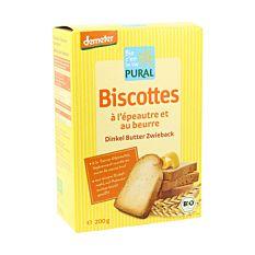 Biscotte à l'Epeautre et au Beurre 200g Bio