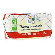 Beurre de Baratte demi-sel 125g Bio