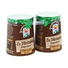 Yaourt emprésuré au chocolat 2x125G Bio