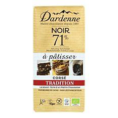 Chocolat pâtissier 71% 200g Bio