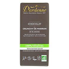 Chocolat au crunchy de Marron 100% végétal 90g Bio
