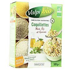 Coquillettes de Maïs Riz et Quinoa 500g Bio