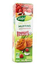 Muffin coco framboise sans gluten 120g Bio