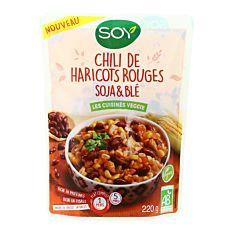 Chili de Haricots rouges, Soja & Blé 220g Bio