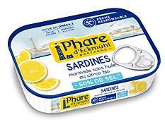 Sardines MSC au citron sans sel 115G