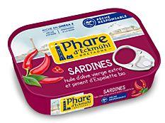 Sardines au piment d'Espelette MSC 135G
