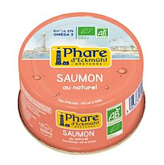 Saumon naturel sans peau ni arêtes 93g