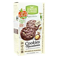 Cookies macadamia & pépites de chocolat blanc 175G Bio