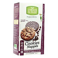 Cookies nappés chocolat noir 175G Bio
