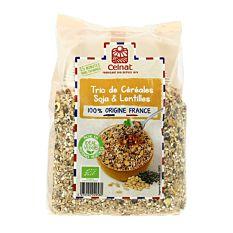 Trio céréales soja lentilles 500g Bio