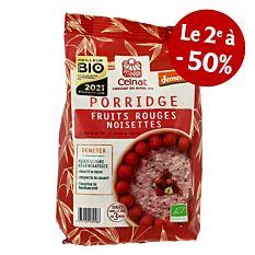 Porridge fruits rouges noisettes 350g Bio