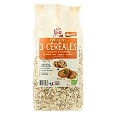 Flocons 3 céréales 500g Bio