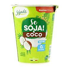 Yaourt végétal soja et coco nature 400g Bio
