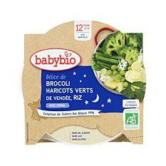 Assiette légumes verts et riz 12M 230G Bio