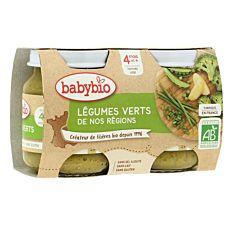 Petit Pot aux Légumes verts dès 4M 2x130g Bio