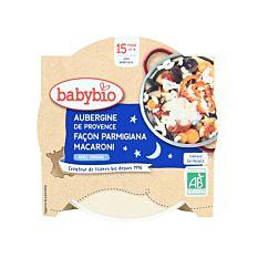 Assiette d'Aubergine façon Parmigiana Macaroni dès 15M 260g Bio