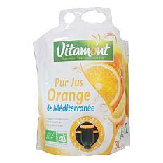 Pack jus d'orange de Méditerranée Format Familial 3L Bio
