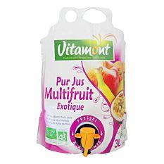 Pack jus multifruits Format Familial 3L Bio