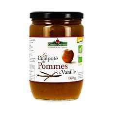 Compote Pomme Vanille 660G Bio