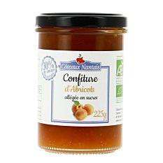 Confiture d'Abricot allégée en sucres 225g Bio