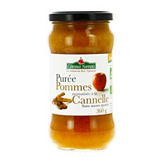 Purée de pommes cannelle Demeter sans sucres 360G Bio