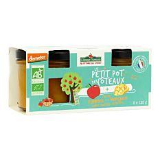 Purée pommes mangues 2x120g Bio