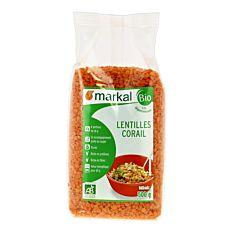 Lentilles Corail 500G Turq Bio