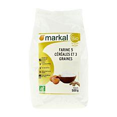 Farine 5 céréales et 3 graines 500g Bio