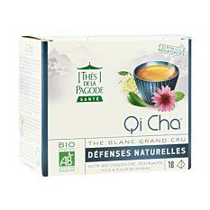 Thé blanc Qi Cha 18 infusions Bio