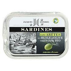 Sardines sans arêtes à l'huile d'Olive 115g Bio