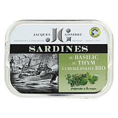 Sardines au Basilic Thym et huile d'Olive 115g