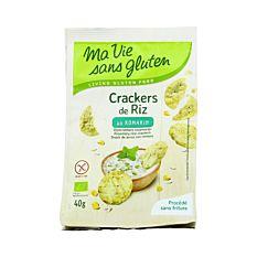 Crackers De Riz Au Romarin Sans Gluten 40g Bio