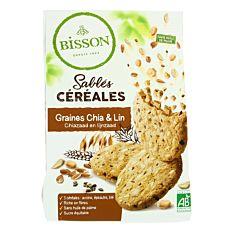 Sablés Céréales au Graines de Chia & Lin 200g Bio