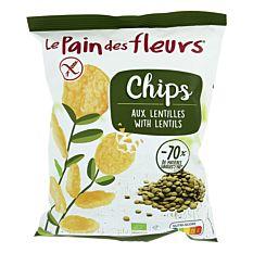 Chips aux Lentilles Vertes 50g Bio
