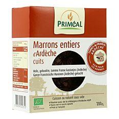 Marrons entiers d'Ardèche cuits 200g Bio