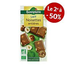 Chocolat Lait Noisette 100G Bio