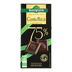 Chocolat noir Costa Rica 75% 100G Bio