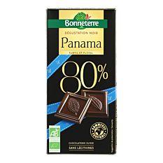 Chocolat noir intense du Panama 80% cacao 100G Bio
