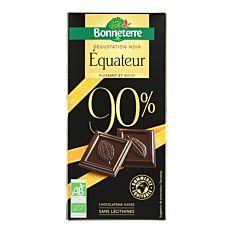 Chocolat noir Intense Equateur 90% 80G Bio