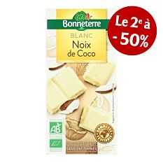 Chocolat Blanc Coco 100G Bio