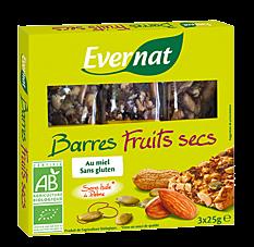 Barres de fruits secs 3x25G Bio