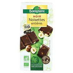 Chocolat noir Noisettes entières 200g Bio