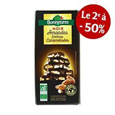 Choco Noir Amande Caramel 200G Bio