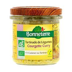 Tartinade de légumes courgette curry 135G Bio