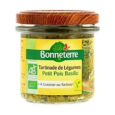 Tartinade de légumes petits pois basilic 135G Bio